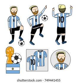 Argentina footballer player. Vector isolated.