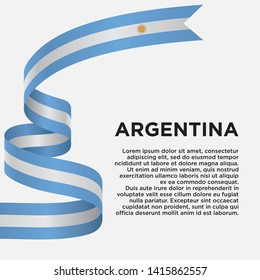 Argentina independence day with flag, vector illustration on a white background - Vector
