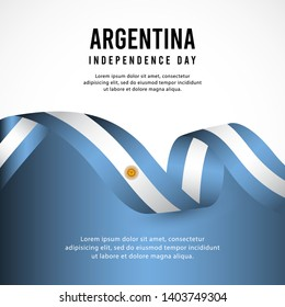 Argentina independence day vector template. design for banner, greeting cards or print.