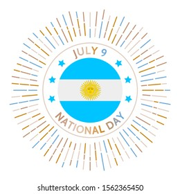 Argentina national day badge. Independence declared from the Spanish Empire in 1816. Celebrated on July 9.