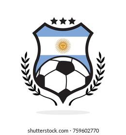 Argentina national flag football crest
