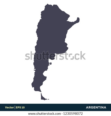Argentina South America Countries Map Icon Stock Vector (Royalty ...