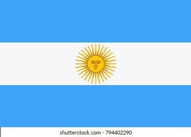 Argentina state flag. Vector illustration.