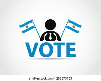 Argentina Vote Podium Campaign Politician