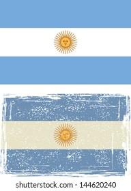 Argentine grunge flag. Vector illustration.