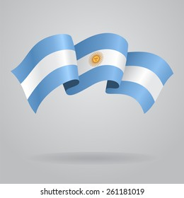 Argentine waving Flag. Vector illustration Eps 8.