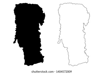 Arges County (Administrative divisions of Romania, Sud - Muntenia development region) map vector illustration, scribble sketch Arges map