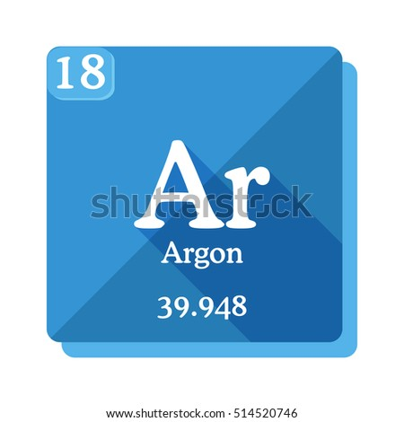 Argon Ar Element Periodic Table Flat Stock Vector Royalty Free
