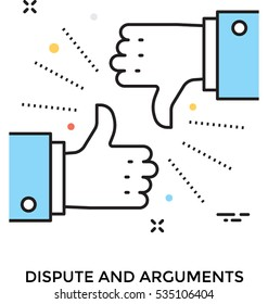 Arguments Vector Icon