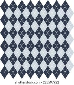 Argyle Blue Background - Vector