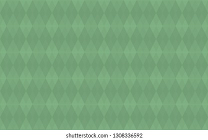 Argyle green seamless pattern. Light colorful background with smooth rhombus. Geometric rhomb vector texture.