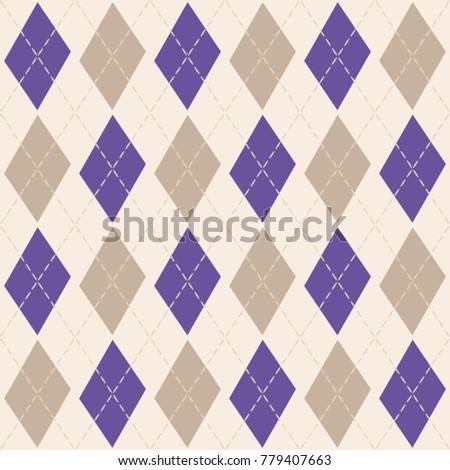 Argyle Knit Pattern Purple Gray Vector Stock Vector Royalty Free