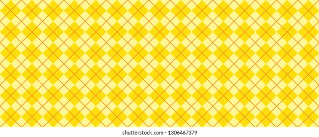 Argyle pattern Background Traditional lozenge diamond checkered check diamonds print plaid Vector Seamless Geometric shape fun funny flanel textile texture fabric weaving square Bright Yellow red line