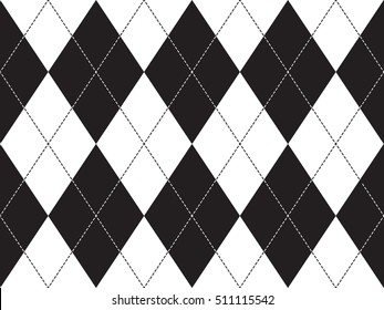 Argyle seamless pattern. Flat design. Vector illustration.