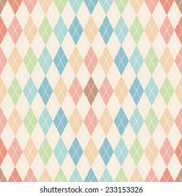 Argyle seamless pattern. Retro background
