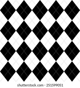 Argyle vector seamless pattern, vector background.