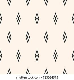 Argyle vector seamless pattern, simple geometric texture with rhombuses. Abstract monochrome minimalist background, repeat geometrical tiles. Stylish funky design element for decor, clothing, textile