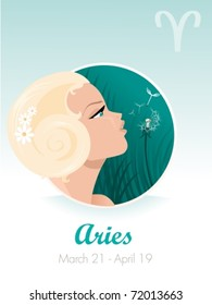 Aries astrological sign. Vector illustration