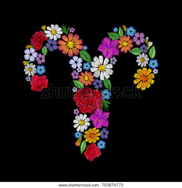 aries astrological flower