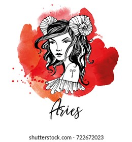 Aries. Zodiac signs girl
