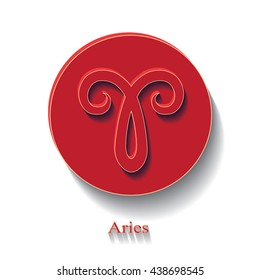 Aries zodiac sign.Vector illustration.
