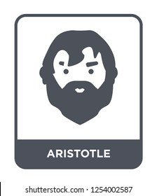 aristotle icon vector on white background, aristotle trendy filled icons from Greece collection, aristotle simple element illustration