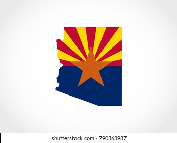 Arizona Flag Map