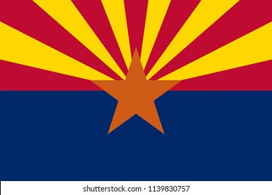 Arizona flag vector
