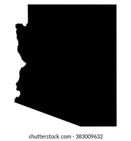 Arizona map on white background vector