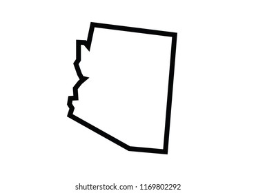 Arizona outline map country shape
