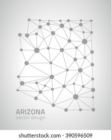 Arizona outline map, USA state