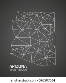 Arizona outline map, U.S.A. state