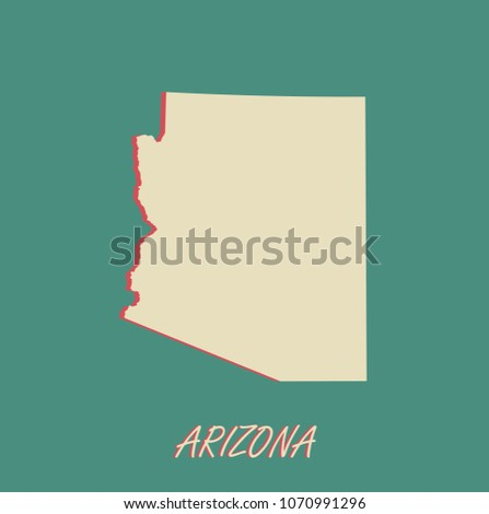Arizona State US Map Vector Outlines Stock Vector (Royalty ...