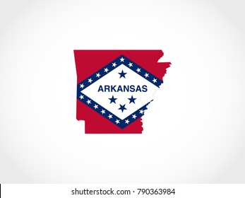 Arkansas Flag Map