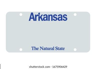 Arkansas license plate. Vector object on white background