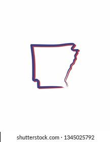 Arkansas Outline Logo Icon 001