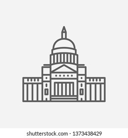 Arkansas state capitol icon line symbol. Isolated vector illustration of  icon sign concept for your web site mobile app logo UI design.