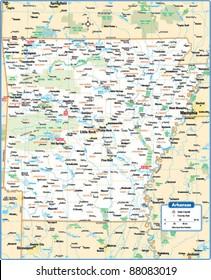 Imágenes, fotos de stock y vectores sobre Arkansas+map+ ...