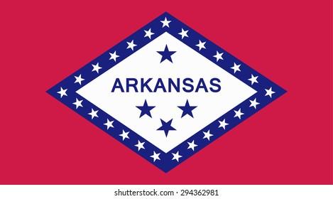 Arkansas state national flag. Vector EPS8