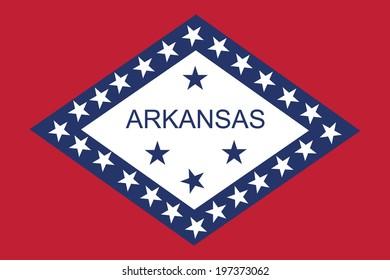 Arkansas vector flag isolated.