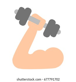Arm with dumbbell.