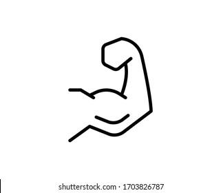 Arm line icon. High quality outline symbol for web design or mobile app. Thin line sign for design logo. Black outline pictogram on white background