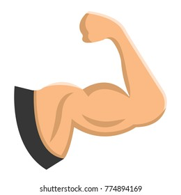 Arm Muscle flat icon, fitness and sport, biceps sign vector graphics, a colorful solid pattern on a white background, eps 10.