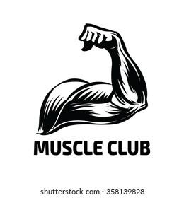 muscle logo images stock photos  vectors  shutterstock