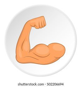 Arm muscule icon. Flat illustration of arm muscule vector icon for web
