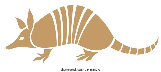 Armadillo animal vector icon
