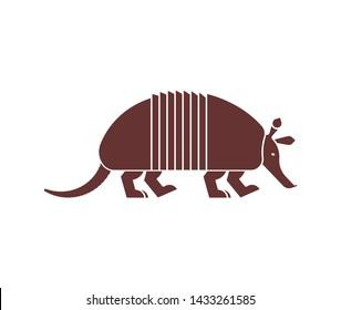Armadillo icon. Animal Nine-hip Armadillo vector illustration.