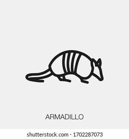 armadillo icon vector. Linear style sign for mobile concept and web design. armadillo symbol illustration. Pixel vector graphics - Vector.