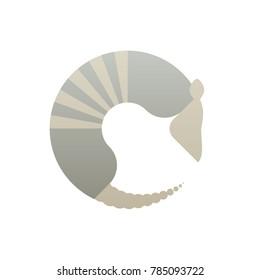 Armadillo minimalistic logo vector illustration
