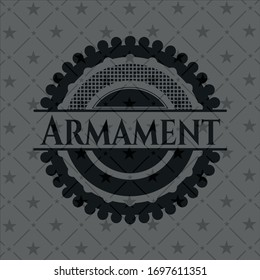 Armament dark emblem. Vector Illustration. Detailed.